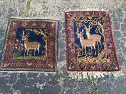 Antique Oriental Rug - Set Of 2 - Hand Knotted - Wool