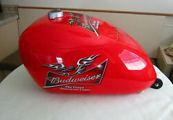 Promo Budweiser Beer Motorcycle Harley Tank Rolling Cooler Rare Collectable