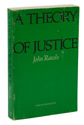 A Theory Of Justice John Rawls First Edition Paperback Issue 1971 1st Print