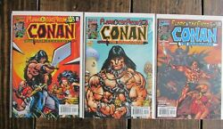 Marvel 2000 Conan The Barbarian Flame And Fiend Comic Book Issue 1-3 Complete Set