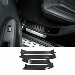 For Benz Gle 16-19 Carbon Fiber Steel Door Sill Threshold Protector Scuff Plate