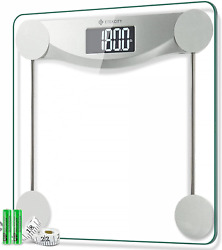 Etekcity Digital Body Weight Bathroom Scale 440 Pounds 6mm Tempered Glass Plat