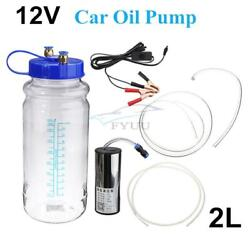 12v 2l Oil Water Fluid Suction Extractor Extraction Transfer Vacuum Pump For Car