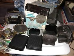 Lot Of Old Automobile Audio Parts - Radios Speakers - Condition Unknown