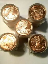 100 Ounces Of Copper Coins 1 Oz Ea. Walking Liberty Bullion Rounds By Reedersong