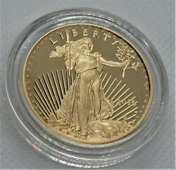 2016 W American Gold Eagle Proof 1 Oz 50 In Ogp