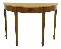 52540ec Smith And Watson Federal Inlaid Mahogany Demi Lune Console Table