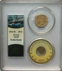 Ss Central America Ssca Rare 1824-b Netherlands 10 G Foreign Gold Shipwreck Coin