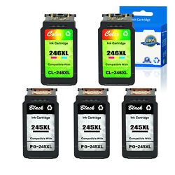 Us Stock 3x Pg-245xl+2x Cl-246xl Ink For Canon Pixma Ip2820 Mg2420 Mg2520 Mg2920