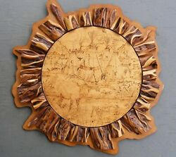 Wake Up Call Wood Burning Wall Hanging Birch And Diamond Willow Western Décor 36