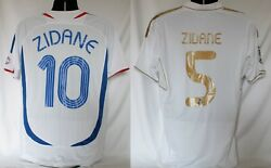 Official Zinedine Zidane Real Madrid And 06 Wc France National Jerseys Bnwt Large
