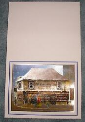 Vintage Christmas Antique Shop Antiquary Old Curiosity Shop Charles Dickens Card