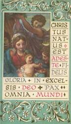 Vintage Christmas Christ Child Angel Mary Joseph Gloria In Excel-deo Art Card