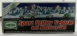 Hess Truck 2004 Sport Utility Vehicle And Motorcycles 40th Anniversary Edition