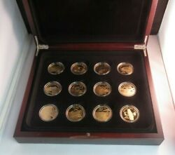 History Of Powered Flight 2005 12 1oz Silver Proof Solomon Islands 25 Coin Set