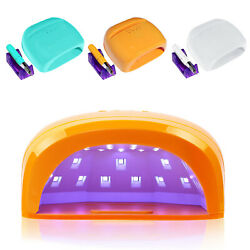 Led 3d Art Nail Lamp W/ Nail Drill W/ 3 Timers W/ Handle And Phone Holder