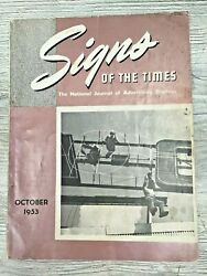 Vintage 1953 Signs Of The Times Journal Advertising Displays