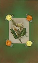 Vintage Calla Lily Garden Flowers Roses Aesthetic Collage Watercolor Border