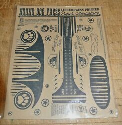 VINTAGE HOUND DOG PRESS PUNCH OUT 10 CENT paper aeroplane airplane