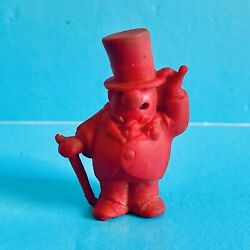 Vintage Rubber Toy - W.c. Fields Pencil Topper Eraser Red - Frito Lay 1971