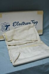 Vtg Nos 1975 Lincoln Mk Iv 1/2 Vinyl Roof Top Tan French Halo Cream Normandy