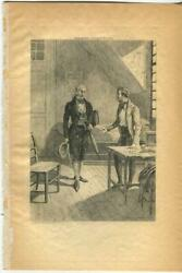 Antique Victorian Elderly Man Of Stature Umbrella Hat Young Man Old House Print