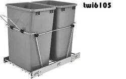 Rv-18kd-17c S Double 35 Quart Sliding Pull-out Waste Containers Garbage Trash
