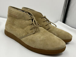 Aetrex Mens Tan Suede Chukka Boots Size 10.5 Lace Up