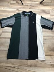Vtg Knights Of Round Table Polo Shirt Size Large Green Gray Black White Mens 90s