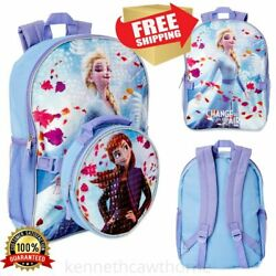 Kids#x27; School Backpack Change Is In The Air With Lunch Bag Holographic Print NEW $26.68