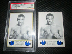3 1986 Brownand039s Boxing Evander Holyfield Rookie Gold Psa 7 Silver Rc 1987 Panini