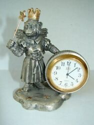 Rare Wizard Of Oz Flying Queen Monkey Clock Pewter Works Perfect Dorothy Kansas
