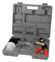 Performance Tool Vacuum Pump Pump Containers Adapters Hoses Gauge Carry Case