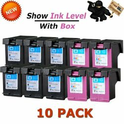 10pk 61xl Black And Color Ink For Hp 61 Xl Officejet 2620 4630 4632 4634 4635 8040