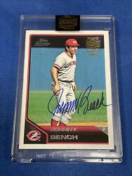 2021 Topps Archive Signature Series Johnny Bench 1/1 Auto 2011 Lineage