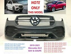 2019-2021 Mercedes Gle Coupe And Suv Front Bumper W.o/ Sensors And Camera Spot 29