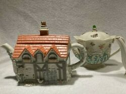 Free Ship Great Deal 2 Lenox Teapots- English Cottage Lily Of The Valley