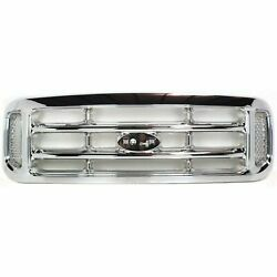 New Grille Chrome Shell And Inser Fits 1999-2004 Ford F-250 Super Duty Fo1200417