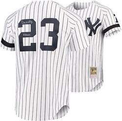 Don Mattingly Ny Yankees Signed White 1995 Mandn Authentic Jersey And Hitman Insc