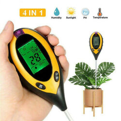 Lcd Digital Ph Tester Soil Moisture Temperature Test Water Humidity For Garden