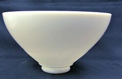 10 Opal Milk Glass Reflector Shade 6-way Torchiere Floor Lamp 3 Fitter As-is