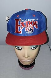 Vintage Montreal Expos Mlb Fitted 7 1/8 Hat Unworn Nos 1993 Collectors Series
