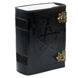 Handmade Leather Journal Large 600 Page Black Note Book Shadow Blank Paper Dairy