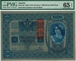 Austria. P-59. Pmg 65 Epq Gem Uncirculated. Large Note Strong Colors.