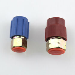 1 Pair R12 To R134a Quick Connector Adaptor Couplers Auto Car A/c Manifold Gauge