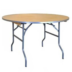 Round Folding Table 36 In Indoor Outdoor Dining Party School Office Wood Tables
