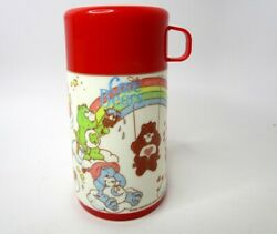 Aladdin Red Plastic American Greetings Lunchbox Thermos Only - Care Bears 1985
