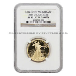 2011-w 25 Gold Eagle Ngc Pf70ucam Proof Ultra Cameo 1/2 Oz American Coin 22kt