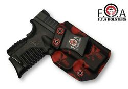 Concealment Holster Inside The Waist Band Red Punisher Appendix Carry Iwb