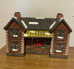 Dept 56 Deluxe Porcelain Lighted House Depot With Train Collectibles.